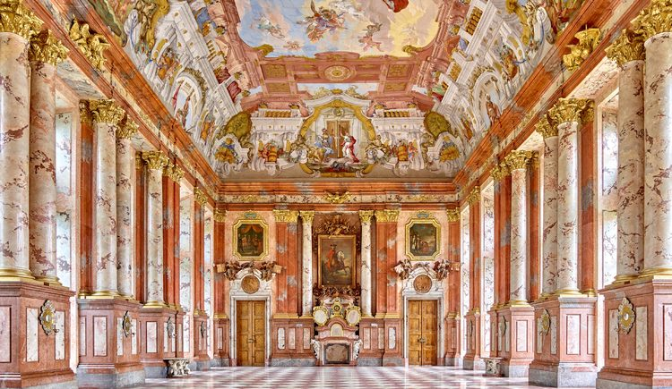 Der Marmorsaal des Stiftes St. Florian.