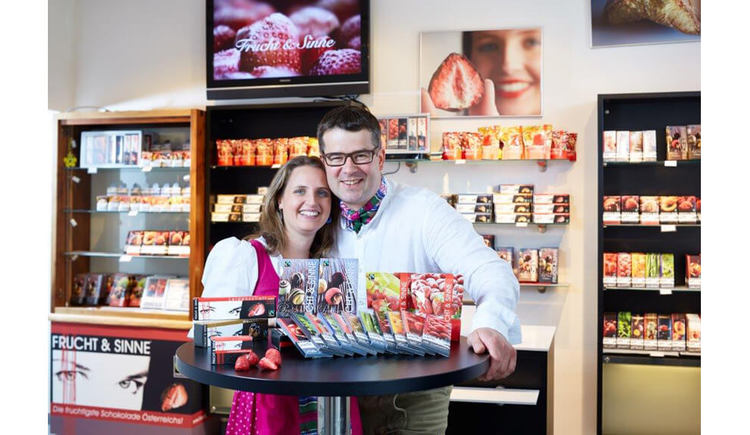 Familie Kibler im Schokoladengeschaeft. (© Frucht und Sinne)