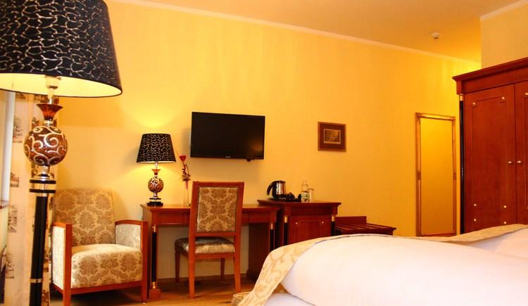 Die Zimmer im Seehotel Grüner Baum sind liebevoll ausgestattet. (© Seehotel Grüner Baum)