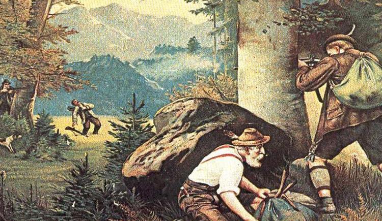 Wildererschlacht im Wilderermuseum St. Pankraz (© Wilderermuseum)