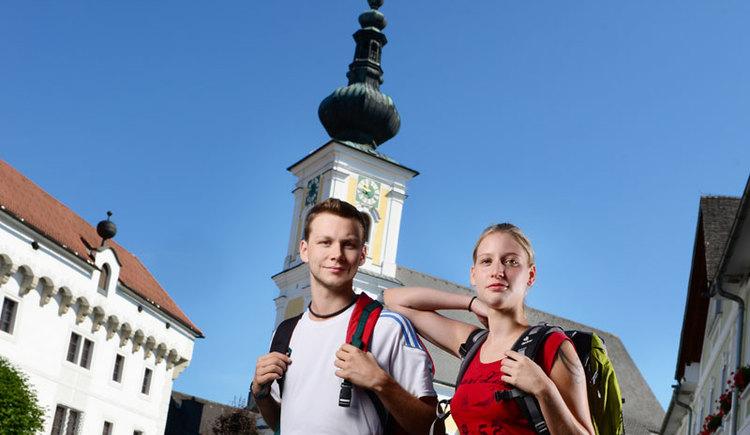 Wanderpaar in Vorchdorf. (© Tourismusverband Almtal-Salzkammergut, Foto Röbl)