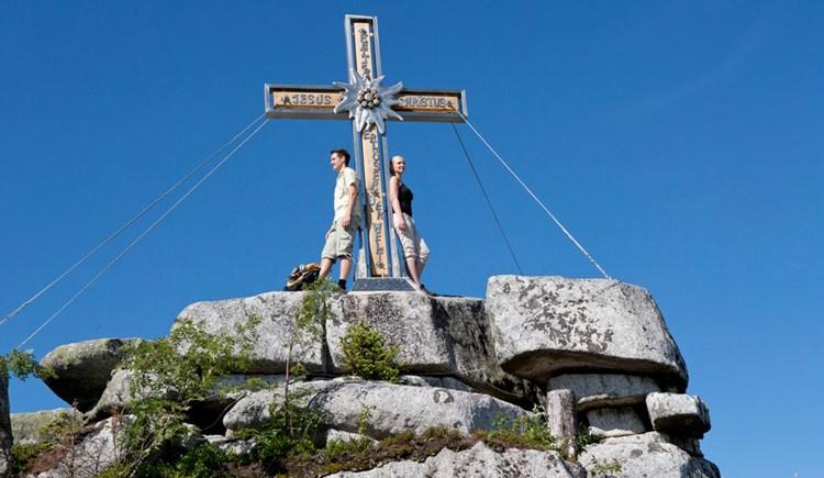 Der höchste Berg auf der österreichischen Site des Böhmerwaldes ist der Plöckenstein mit 1379 m.