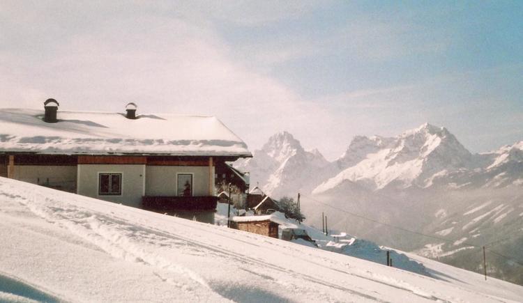 Winteraussicht auf den Großen Priel - Haus Mösenbi (© Elfriede Mösenbichler)