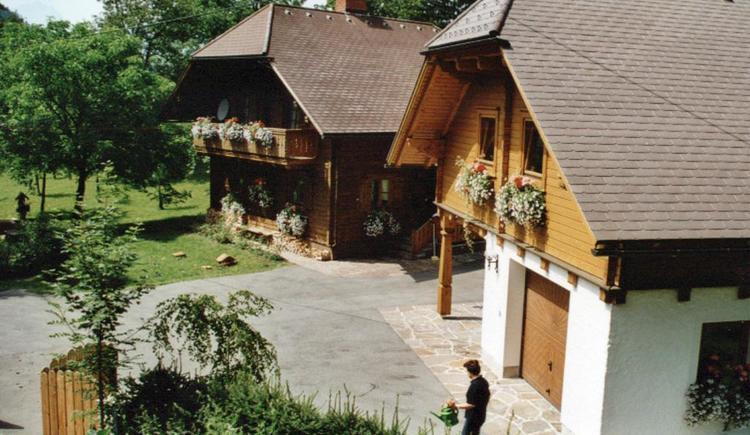 Bio-Blockhaus Koglerhütte im Hintergrund (© Bio-Blockhaus Koglerhütte)