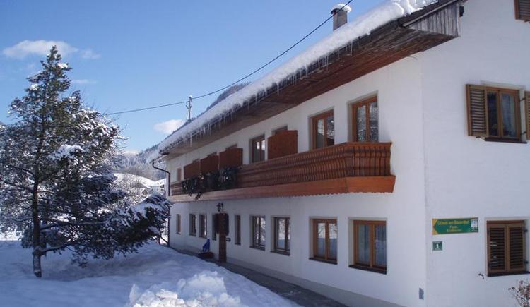 Winteransicht Haus Steinwänd (© Sieberer)