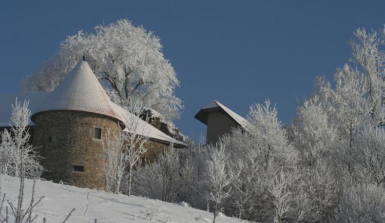 Die Burg im Winter (© Kulturverein Burg Piberstein)