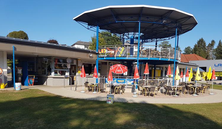 Erlebnisbad Frankenmarkt Blick auf das Badebuffet