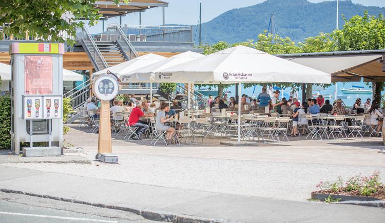 Foto zeigt Gastgarten Restaurant \