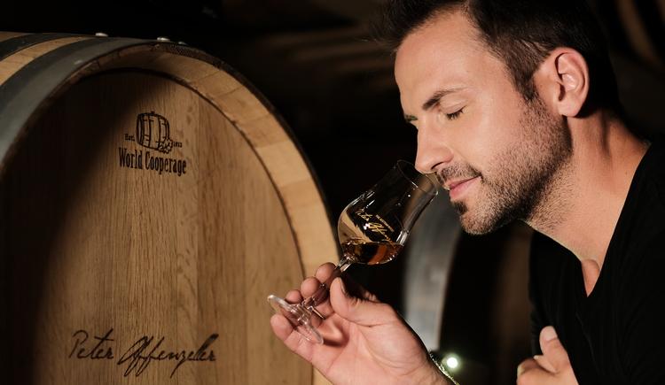 Whiskyfässer der Whiskydestillerie Peter Affenzeller.