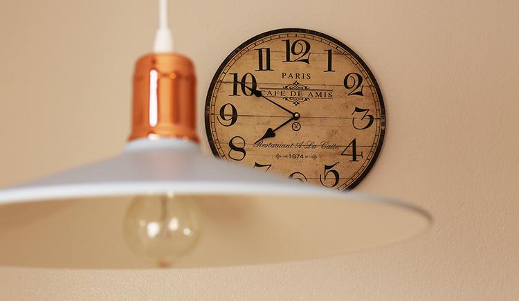 lamp, clock