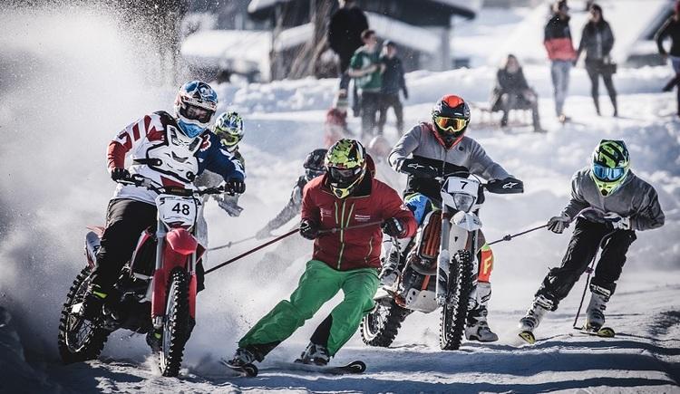 Volle Action beim Skijöring in Gosau 2018. (© Edwin Husic)