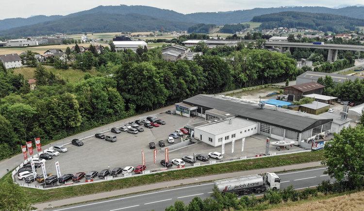 Luftaufnahme LEGAT Automobil GmbH.