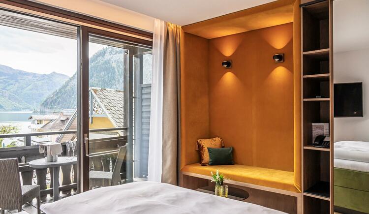 Kuschelzimmer mit Balkon und Seeblick