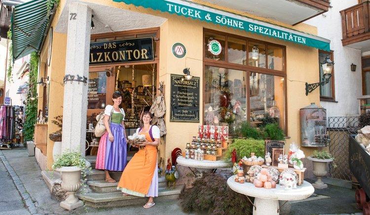 Das Salzkontor Geschäft in St. Wolfgang im Zentrum