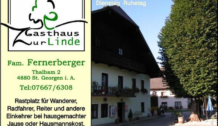 Landgasthaus zur LInde in St. Georgen im Attergau Familie Fernerberger in der Region Attersee-Attergau Salzkammergut.