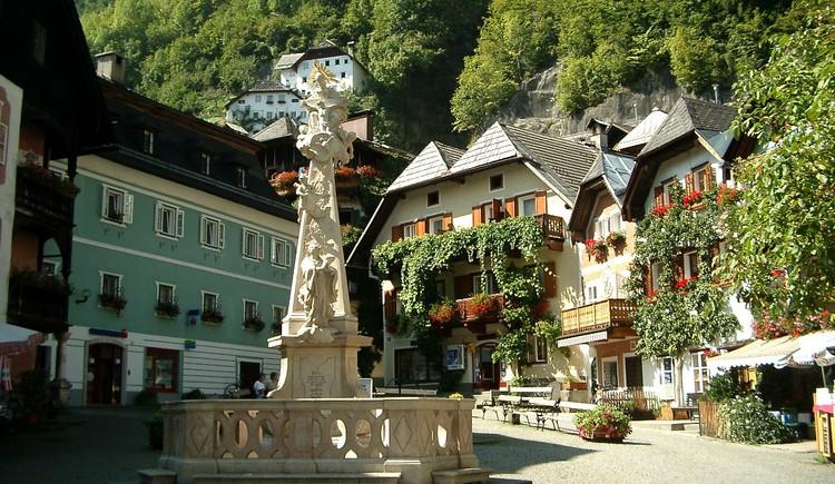Das Herzstück des historischen Ortes Hallstatt. (© Ferienregion Dachstein Salzkammergut)