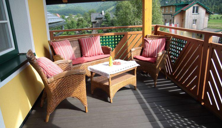 Sitzecke für 4 Personen. (© Haus Bellevue)
