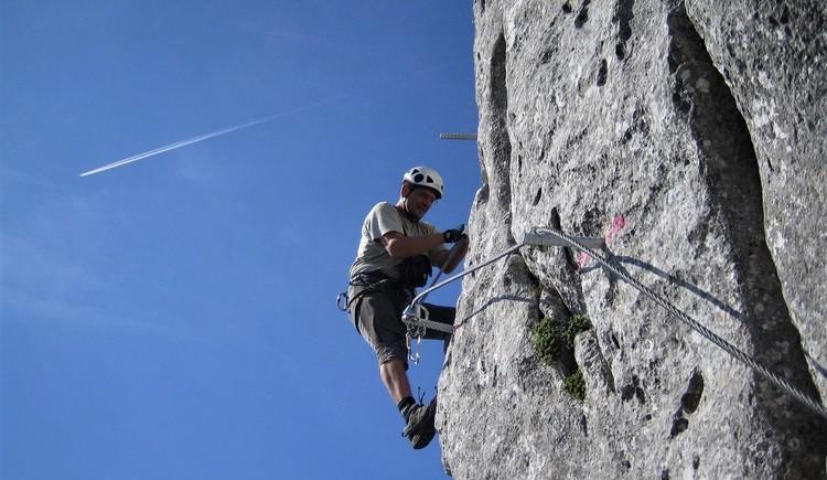 Sehr steile und schwierige Kletterei (© www.bergsteigen.com)