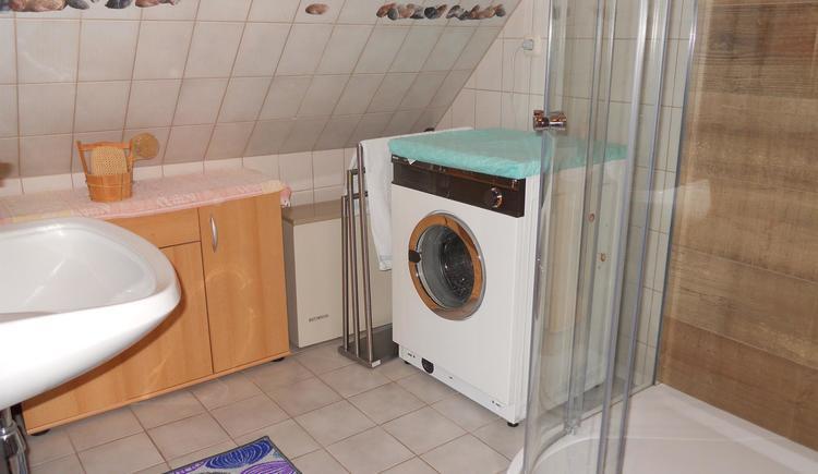 Waschgelegenheit,Dusche, Waschmaschine