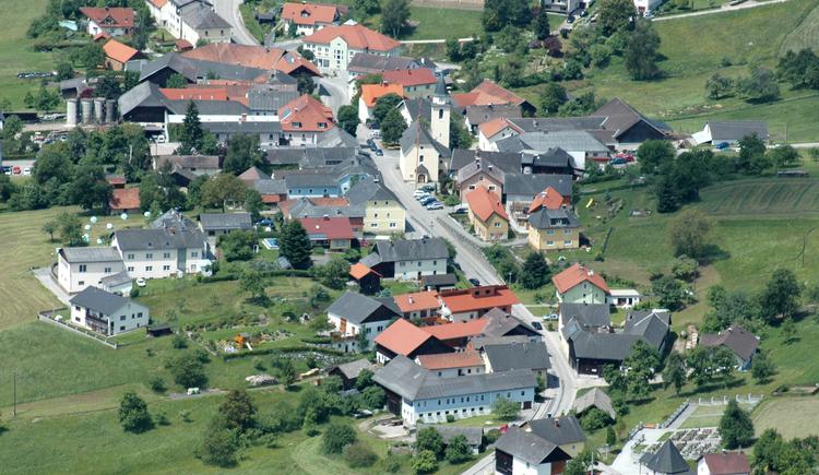 Luftaufnahme Neustift ob der Donau. (© TV Neustift)