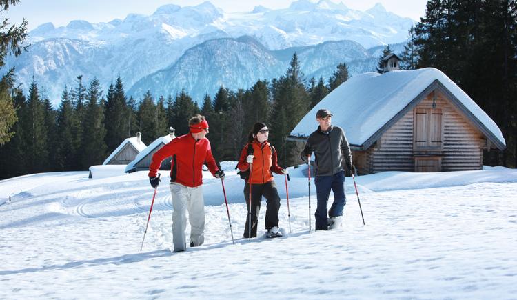 Schneeschuhwanderung zur Hütteneckalm in Bad Goisern. (© OÖ Touristik)