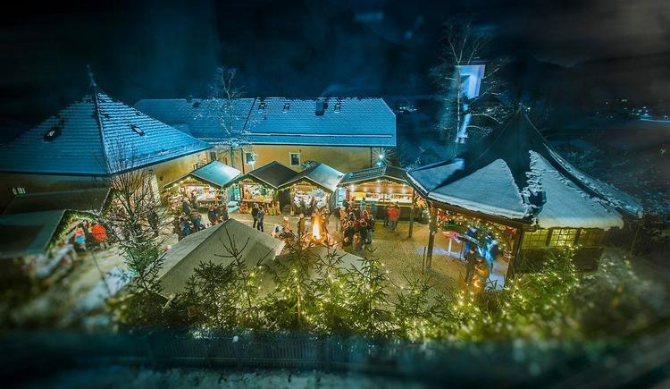 Advent in Ebenau von oben (© (c) TVB Fuschlseeregion Ortsbüro Ebenau)