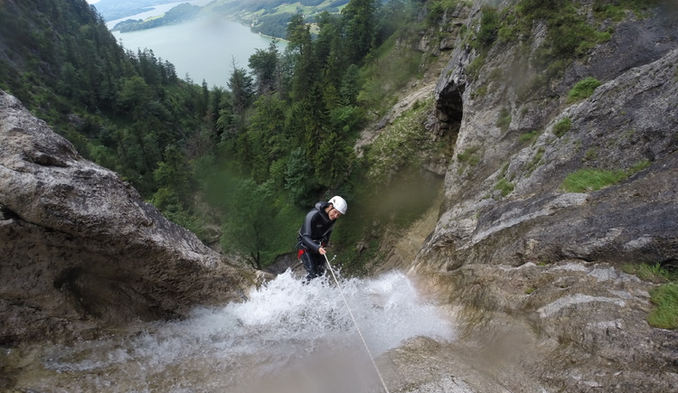Canyoning for the adventurous with the company Outback in Bad Goisern. (© Leitner Hannes)