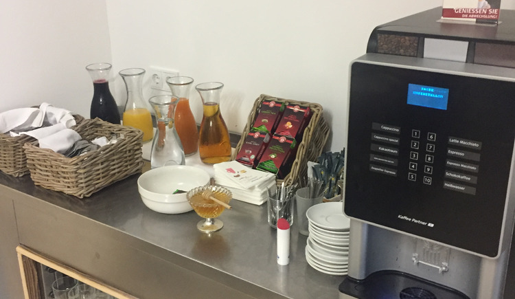 We also offer a variety of juices, coffee and tea.