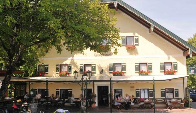 Blick auf den Gasthof Drachenwand. (© www.mondsee.at)