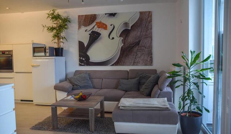 Wohnzimmer im Appartement Sammer (© Appartement Sammer)