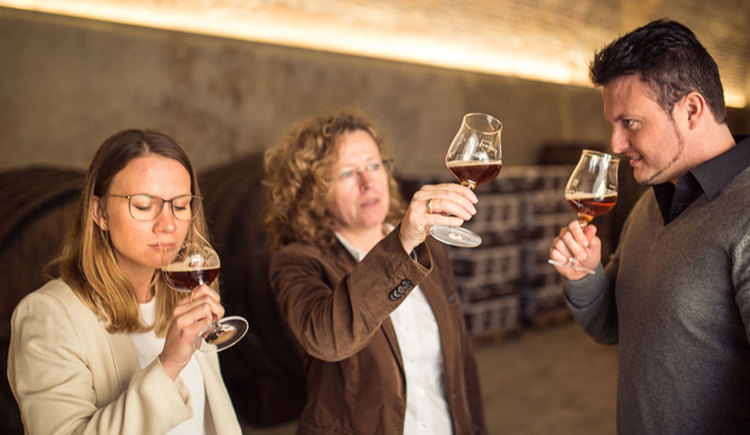 Samichlausdegustation in der Brauerei Schloss Eggenberg in Vorchdorf im Almtal in der Region Traunsee-Almtal Salzkammergut