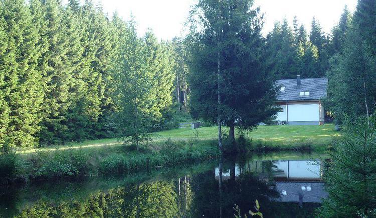 Ferienhaus mit Teich (© Privat)