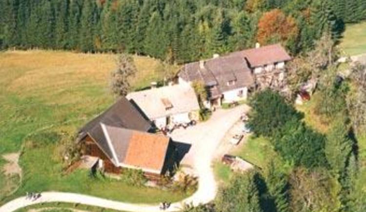 Unser Haus aus der Luft (© Almhof Wurbauer)