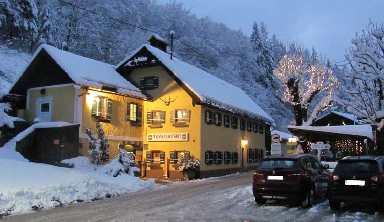Weihnachtsstimmung vorn Weissenbachwirt in Bad Goisern