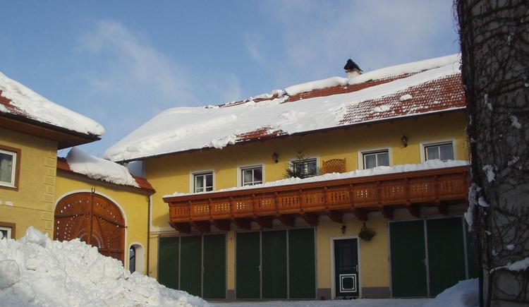Innenhof im Winter