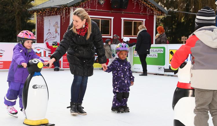 Eislaufhilfe (© Tourismusverband Urlaubsregion Vitalwelt Bad Schallerbach / Andreas Maringer)