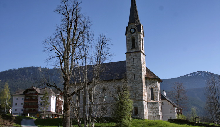 the protestant church in sunlight