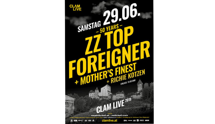 ZZ Top Plakat Burg Clam