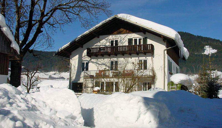 Our holiday apartment deeply covered in snow