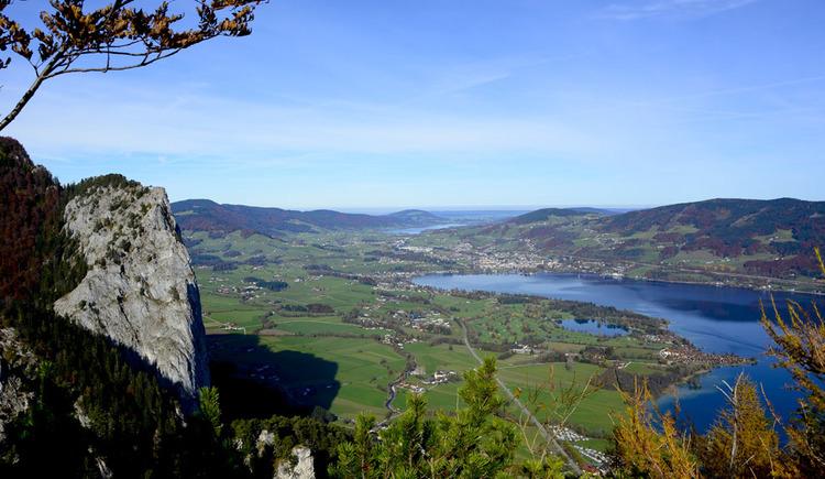 Ausblick vom Berg, Landschaft, See