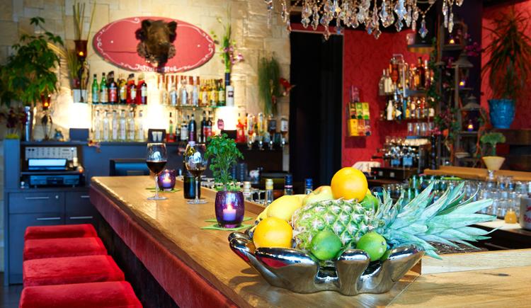 Innenansicht Basilikum Gourmet Bar in St. Georgen im Attergau Salzkammergut.