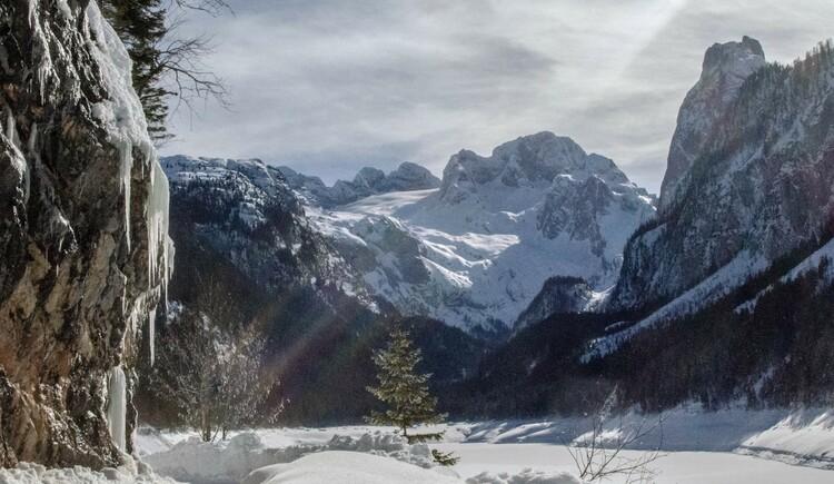 Der Gosausee ist auch im Winter ein schönes Ausflugsziel. (© Stefanie Wallner)