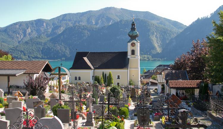 Pfarrkirche Unterach. (© TVB Attersee-Salzkammergut, Elke Holzinger)