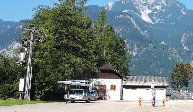 Ansicht des Parkplatzes