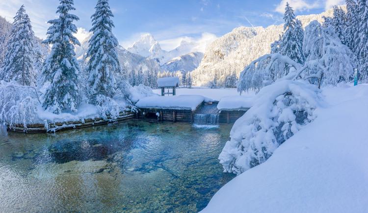 Winterlicher Schiederweiher (© TVB Pyhrn-Priel / Hinterramskogler)