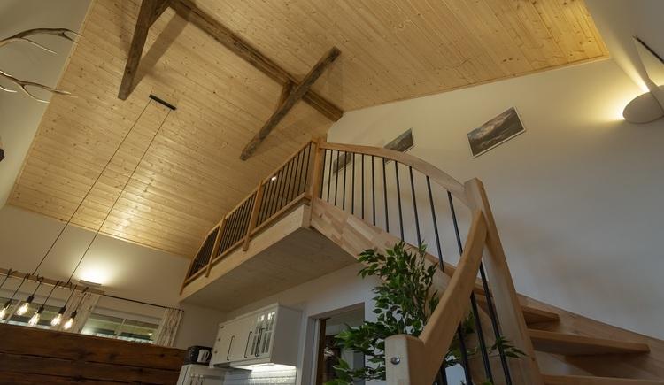 Auch im Inneren des in Vollholzbauweise errichteten Chalet 164 wurde viel Holz verarbeitet. \n