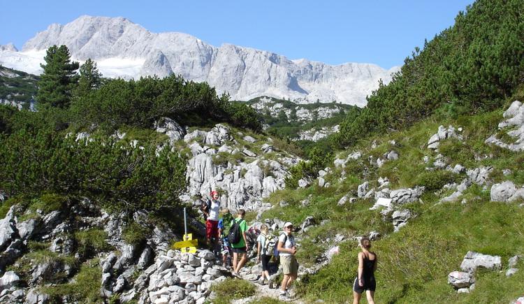 Wanderer am Berg. (© DAG)