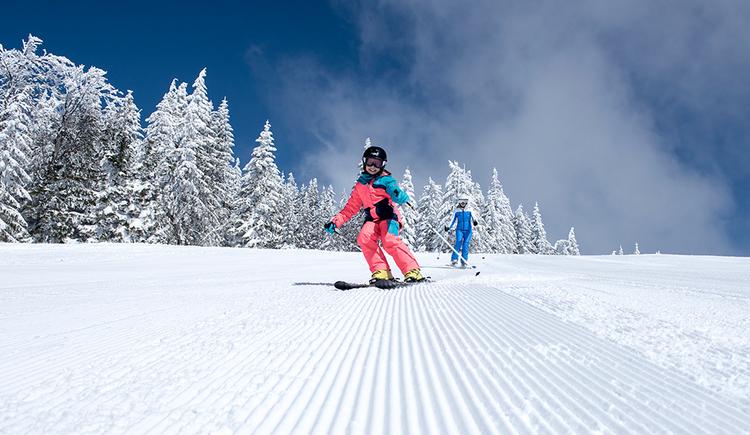 Skigenuss im Skigebiet Hochficht (© Oberösterreich Tourismus GmbH/David Lugmayr)