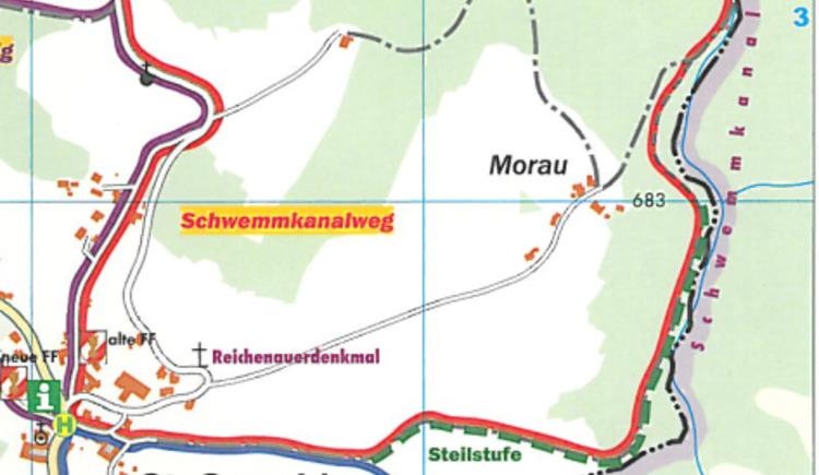 Info über die Walkingstrecke. (© Ferienregion Böhmerwald)