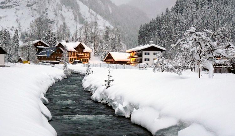 Winterlandschaft beim Gasthof Gosauschmied. (© Hotel Gasthof Gosauschmied)